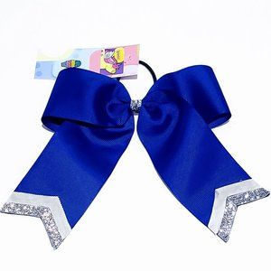🎉4 for $20🎉 Blue & Glitter trim bow hair elastic